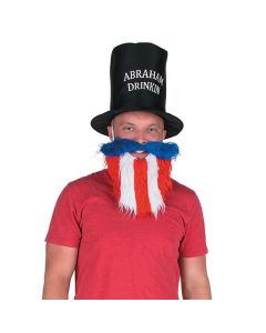 Patriotic Abe Lincoln Hat with Beard