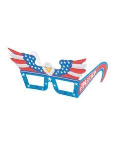 Patriotic Eagle Paper Glasses