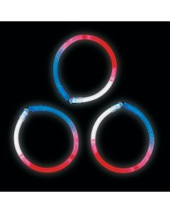 Patriotic Glow Tri-Color Bracelets