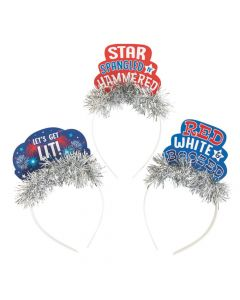 Patriotic Party Headbands with Sayings