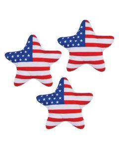 Patriotic Plush Flag Stars
