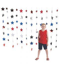 Patriotic Star Foil Backdrop