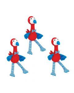Patriotic Stuffed Flamingos