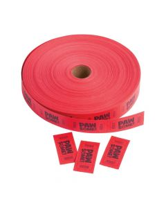 Paw Print Incentive Roll Tickets