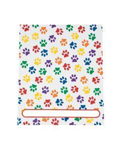 Paw Print Patterned Pocket Folders
