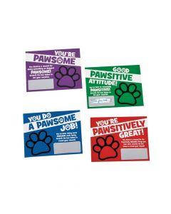 Paw Print Scratch Reward Cards
