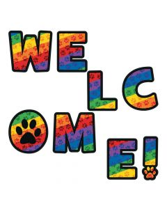Paw Print Welcome Letters