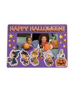 Peanuts Halloween Picture Frame Magnet Craft Kit