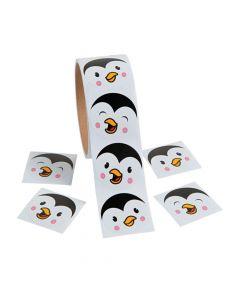 Penguin Face Sticker Rolls