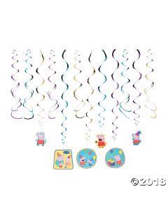 Peppa Pig Hanging Swirl Decorations