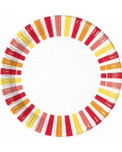 Pepper Stripes Lunch Plate