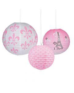 Perfectly Paris Hanging Paper Lanterns