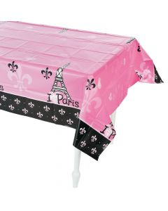 Perfectly Paris Plastic Tablecloth