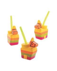 Piñata Donkey Cups with Straws