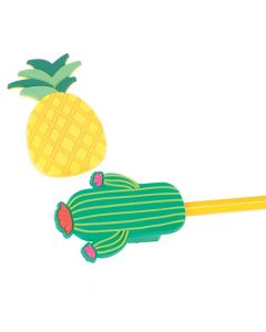 Pineapple and Cactus Pencil Sharpeners