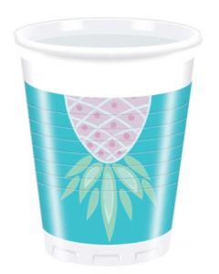 Pineapple Plastic Cups