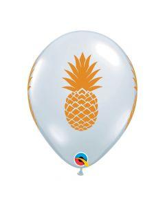 "Pineapple Print 11"" Latex Balloons"