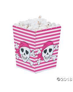 Pink Pirate Popcorn Boxes