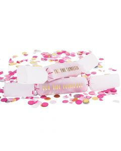 Pink Wedding Confetti Poppers