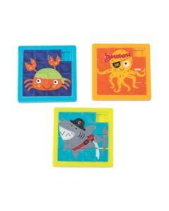 Pirate Animals Slide Puzzles