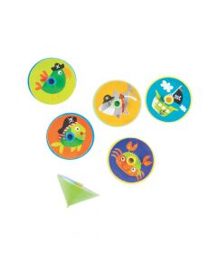 Pirate Animals Spin Tops