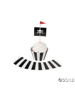 Pirate Party Cupcake Wrappers with Picks