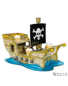 Pirate Ship Cupcake Stand