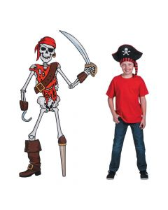 Pirate Skeleton Jointed Cutout