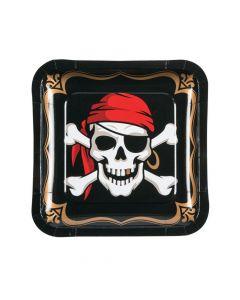 Pirate Square Paper Dinner Plates