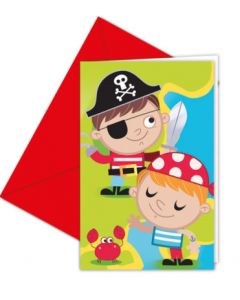 Pirate Treasure Hunt Invitations & Envelopes