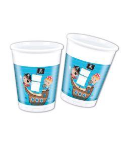 Pirate Treasure Hunt Plastic Cups