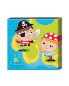 Pirate Treasure Hunt Two Ply Paper Napkin