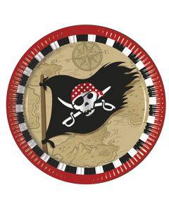Pirate Treasure Map Paper Plates