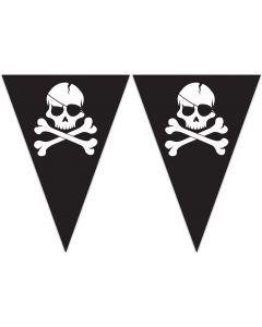 Pirates Black Skull Triangle Flag Banner