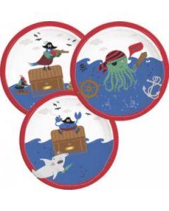 Pirates in the Sea Paper Plates