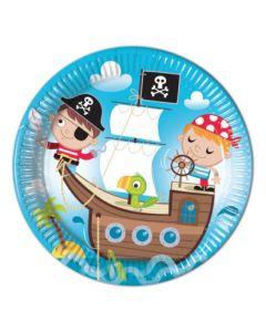 Pirate Treasure Hunt Paper Plates