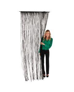 Plastic Black Fringe Door Curtain