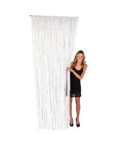 Plastic White Fringe Door Curtain