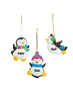 Playful Penguin Christmas Ornaments