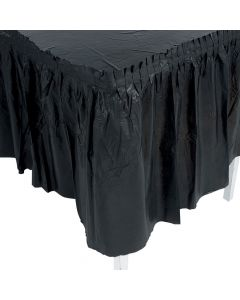 Pleated Black Table Skirt