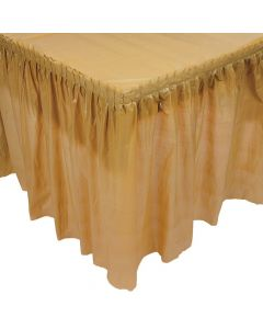 Pleated Gold Table Skirt