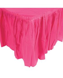 Pleated Hot Pink Table Skirt