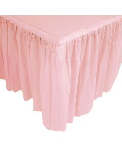 Pleated Light Pink Table Skirt