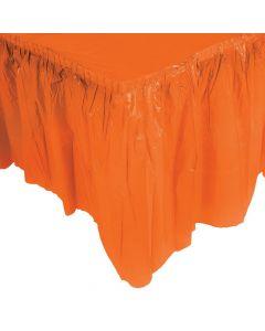 Pleated Orange Table Skirt