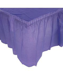 Pleated Purple Table Skirt