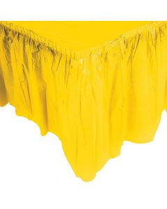 Pleated Yellow Table Skirt