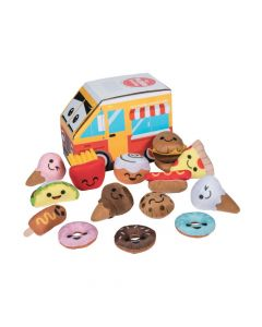 Plush Food Characters in Food Truck