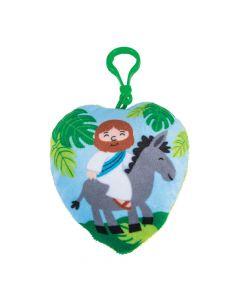 Plush Palm Sunday Backpack Clip Keychains
