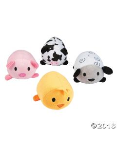 Plush Roly-poly Farm Animals