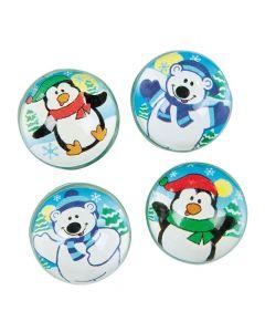 Polar Bear and Penguin Bouncing Balls